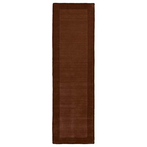 Bombay Home Hand-tufted Borders Copper Wool Rug (2'6 x 8'9) - 2'6 x 8'9