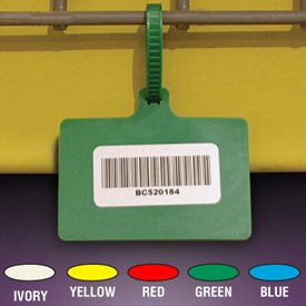 Plastic Color-Coded One-Piece Tag, Blue - 11-1/2'' by Emedco