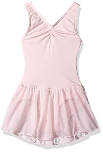 Capezio Girls' Big Pinch Front Tank Dress, Pink, ()
