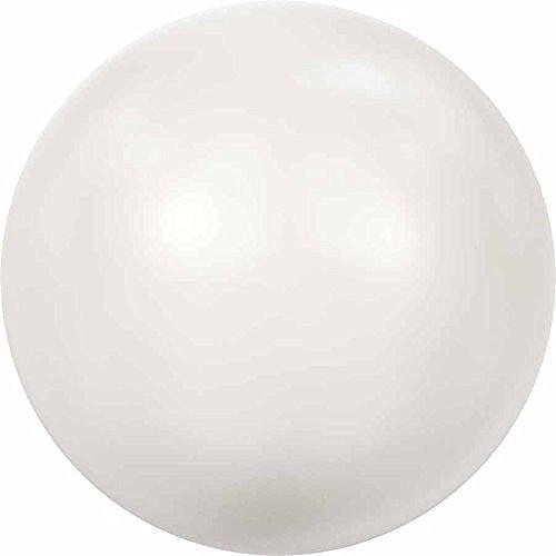 (5818 Swarovski Pearls Round Half Drilled Crystal White Pearl | 12mm - Pack of 4 | Small & Wholesale Packs )