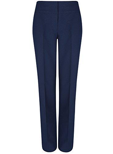 oodji Ultra Mujer Pantalones Clásicos con Pinzas Azul (7900N)