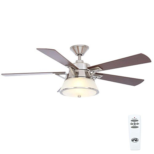 - Hampton Bay Marlowe 52 in. Brushed Nickel Ceiling Fan