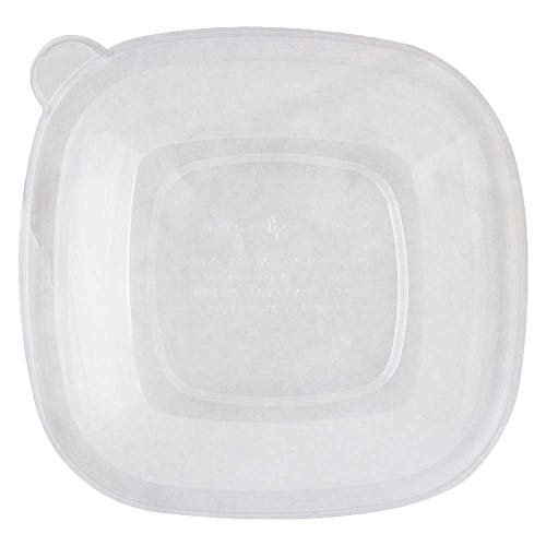 Ingeo Fiber - World Centric BQL-CS-24 100% Compostable Ingeo Fiber Square Bowl Clear Lids for 24-48 oz. Bowls (Pack of 200)