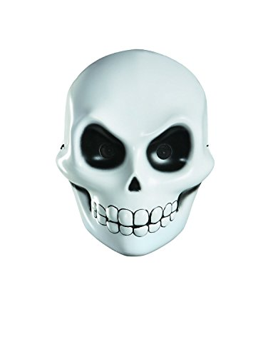 Halloween Skull Mask For Kids (Disguise Reaper Costume Mask Accessory, White/Black, One Size)