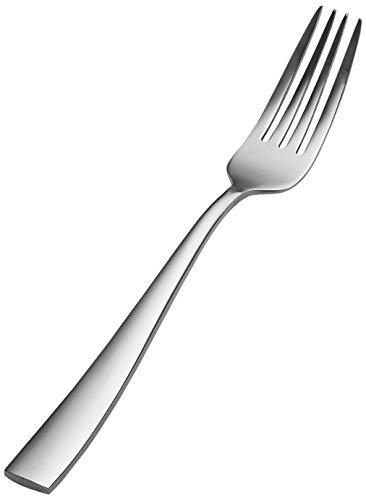 """Bon Chef S3017 Stainless Steel 18/8 Manhattan European Dinner Fork, 8-3/8"""" Length (Pack of 12)"""
