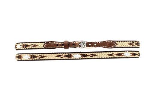 (M&F Western 02774 Adult's 1/2-in Diamond Concho Ribbon Hatband One Size)