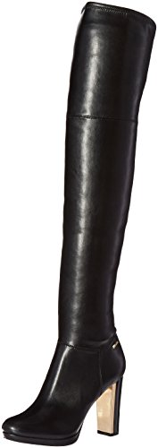 Boot Calvin Dress Women's Neoprene Over Black Knee Nappa Polomia Klein The fanBaOq0r