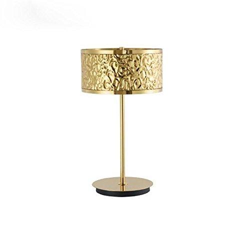 Amazon.com: E27 Lámpara de mesa de oro Moderno Hotel de ...