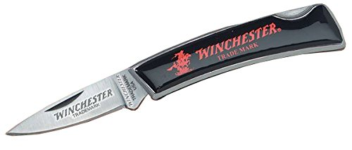 Winchester Knives 3in, 1 Blade Lockback w/Black Handle, Horse and Rider Logo, Box W 40 14013 (Horse Knives Black)