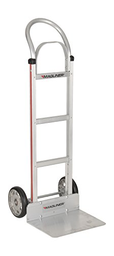 Aluminum Extruded Plate Nose - Magliner HMK112K11 Aluminum Hand Truck, Horizontal Loop Handle with Brace, 16