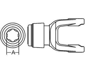 Domestic Safety Slide Lock Tractor Yoke Part No: A-D351120, W1013520DS, W1023520DS, W1103520DS, 35N102-3520, 6713-24913, 6713-25913, D351020, D351220, 22-1319, 35N28020, A-171-459 Tractor Yoke