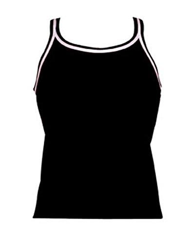 DOLFIN TANKINI TOP WOMENS BLACK LARGE