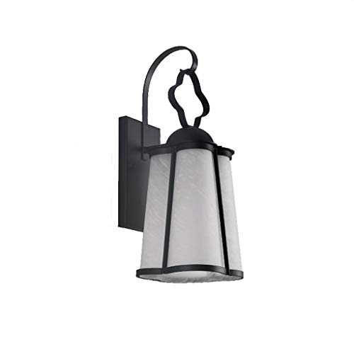 (Engineering Outdoor Light Fitting Staircase Balcony Wall Light Wall Light Outdoor Waterproof, Chuan Han, Black, 33cm)
