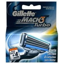 Gillette Mach 3 Turbo Blade Refill Cartridges 16-Count