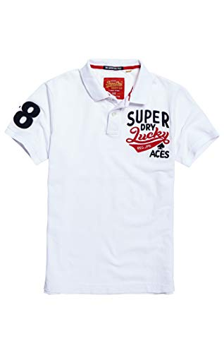 01c Suprstate optic Polo Pique Blanco Hombre Superdry Clssc Cny SwqA778