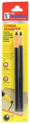 Hanson C H 10260 China Marker Pencil, Black, 2-Pk. - Quantity 12