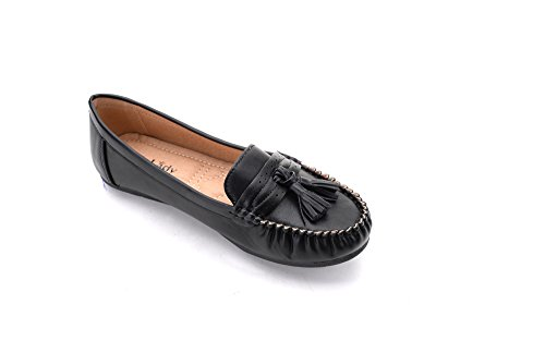 Casual 3 Slip black Womens Mlia On Lady Moccasins Walking Shoes Loafer Flats Driving qRPawECxt
