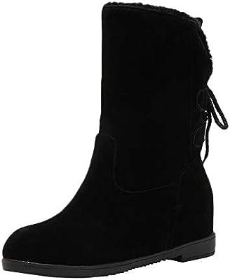 d9814ccc35425a Damen Freizeitschuh Winter rutschfeste dicke Unterseite Warm Stiefel halten  Heel Stiefel ❤LANSKIRT