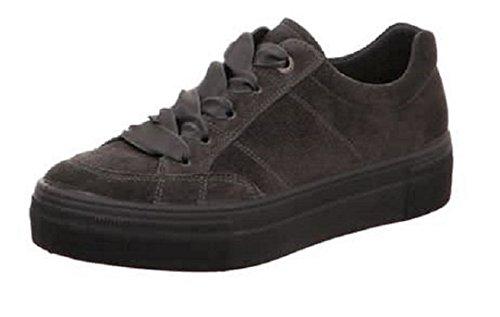 pour de à Dunkel Chaussures Superfit Femme Lacets grau Ville 47vXxU6q