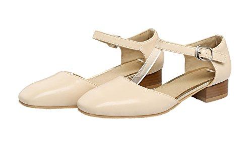 Eud56 Basso AgeeMi Buckle Tacco Shoes Abricot Donna Flats da Ballet PU wRxqSzYCR