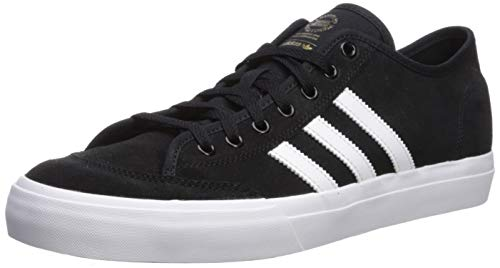 adidas Originals Men's Matchcourt Sneaker, Black/White/Gold Metallic, 11.5 M US