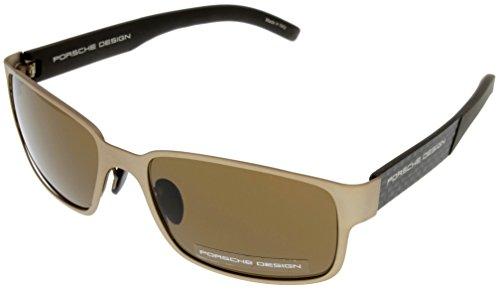 Porsche Design Sunglasses Bronze/Brown Unisex P8551 B Rectangular by Porsche Design