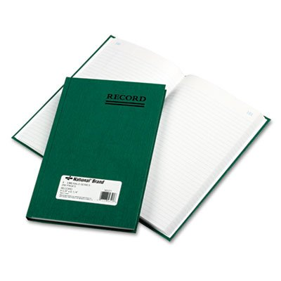 Emerald Series Account Book, Green Cover, 200 Pages, 9 5/8 x 6 1/4, Sold as 1 Each