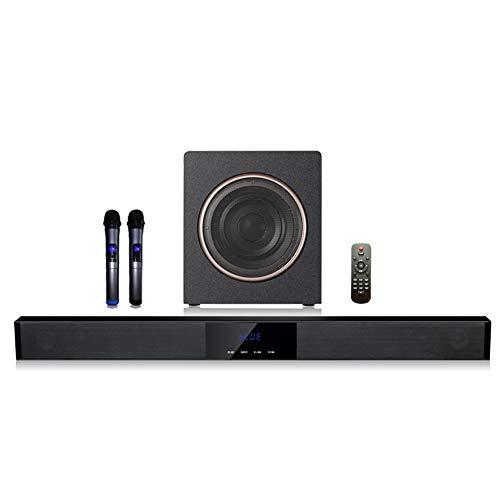 NFY (60W+30W Barra de Sonido con subwoofers Mic, Bluetooth Altavoz inalámbrico Caja de Speaker 3D Cine en casa Sistema de...