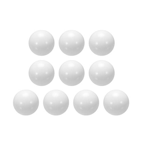 uxcell 3/4-inch POM Coin Ring Making Balls, Plastic Bearing Ball 10pcs ()