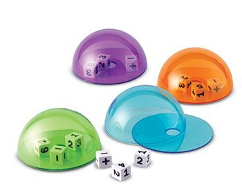 6 Pack LEARNING RESOURCES DICE DOMES