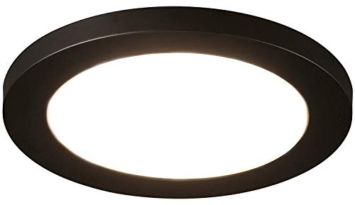 Cloudy Bay 12 inch Ceiling Light LED Flush Mount,17W Dimmable,5000K Day Light,1100lm 120W Incandescent Equivalent,Oil Rubbed Bronze Finish (Bronze Bathroom Ceiling Light)