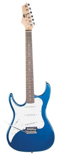AXL Headliner Double Cutaway Left Hand Electric Guitar, Metallic Blue