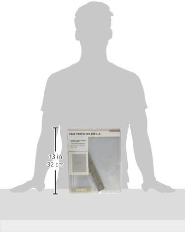 K/&Company 30-705395 Post Bound Scrapbook Album Page Protector Refill Pack Multicolor