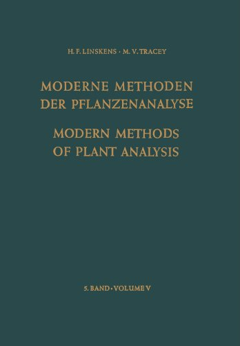 Modern Methods of Plant Analysis / Moderne Methoden der Pflanzenanalyse (English, German and French Edition)