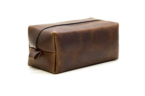 Men Toiletry Bag Mens Leather Toiletry Bag, Personalized Groomsmen Gift, Gift For Boyfriend Gift For Husband Gift Father Gift For Men Gift by Divina Denuevo