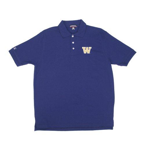 University Classic Pique Polo Shirt - Antigua Washington Classic Pique Polo Shirt (X-Large, Dark Purple)