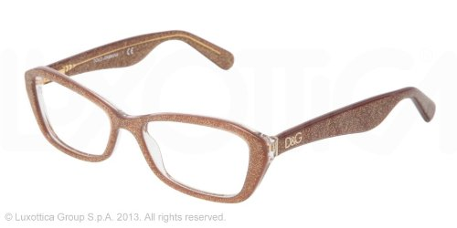 amazoncom dolce gabbana dg3168 eyeglasses 2743 glitter brown 53mm shoes
