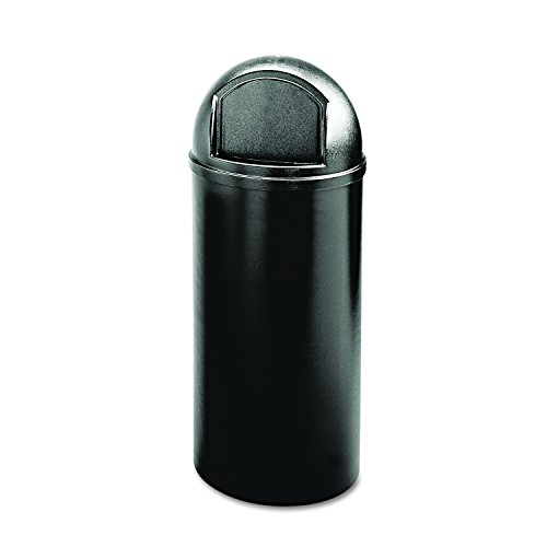 - Rubbermaid Commercial Marshall Classic Trash Can, Round, 25 Gallon, Black, FG817088BLA