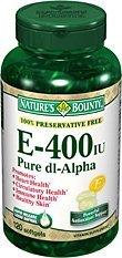 - Nature's Bounty E-400 Iu Natural Pure Dl-Alpha, 120 Softgels