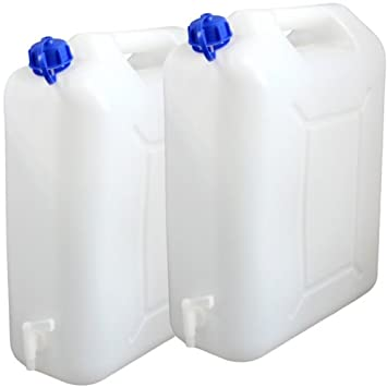 Ordentlich 2x Wasserkanister 20 Liter Camping Outdoor Trinkwasser Kanister  QQ18