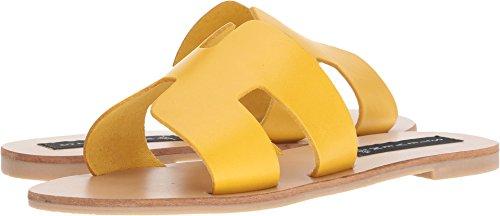STEVEN by Steve Madden Women's Greece Sandal, Yellow Leather, 6.5 M ()