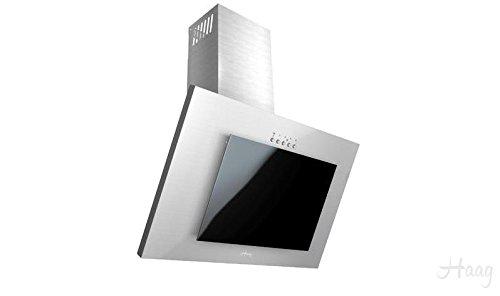 Haag vertikal c edelstahl schwarz glas led kohlefilter