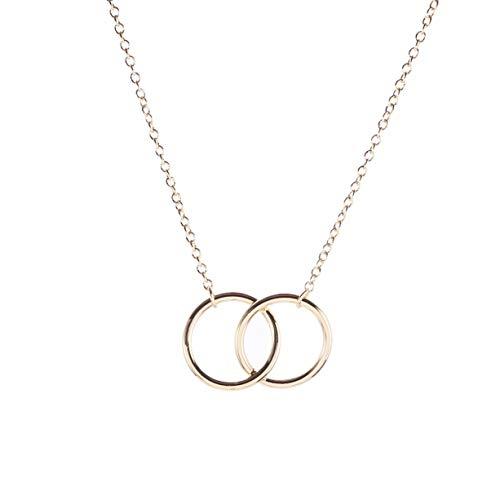 (Joan Nunu Friendship Necklace Sister Necklace Friends Eternity Open cirlce Jewelry Pendant)