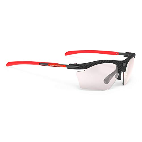 Rudy Project 2019 Rydon Slim Sports Cycling Sunglasses - Carbonium Frame - ImpactX Photochromic Clear to Laser Red Lens