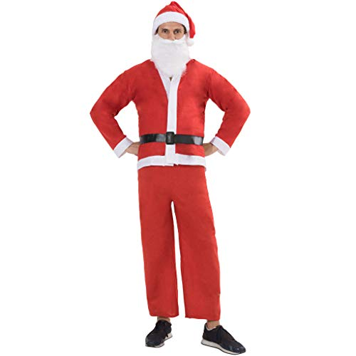 EraSpooky Men's Santa Costumes Christmas Suit Mens Santa Outfit Santa Suit Claus Adult - Funny Cosplay Party]()