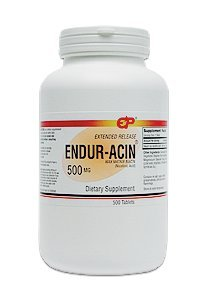ENDUR-ACIN Niacin Low-Flushing Extended Release, 500 mg, 200 Tabs by Endurance Products