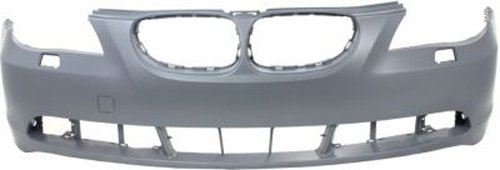 Crash Parts Plus Primed Front Bumper Cover Replacement for 2004-2007 BMW 5 Series ()