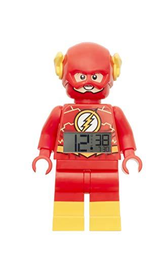 LEGO Flash Alarm Clock, Red, 9 Inches