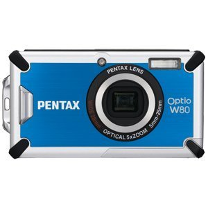 (Optio W80 Waterproof Digital Camera (Azure Blue))