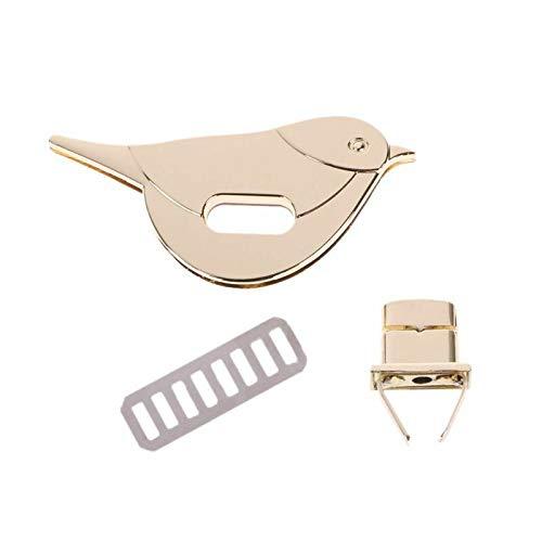 Bird Shape Clasp Turn Lock Twist Locks Metal Hardware for DIY Handbag Bag Purse (Color - Gold)